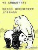 趣味幽默:北極熊&貓熊