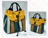 手作品。袋物:撞色條紋水桶包.jpg