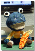 ~2013.09 手作品集。鉤針編織:毛線玩偶。小青蛙.jpg