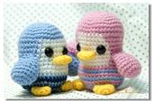 ~2013.09 手作品集。鉤針編織:毛線玩偶。企鵝夫妻.jpg