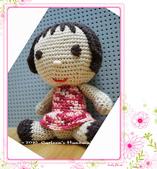 ~2013.09 手作品集。鉤針編織:毛線玩偶。花衣裳的娃.jpg