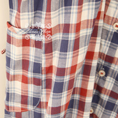 120829-1:Lb133阿米良品秋季新款柔軟舒適翻領鏤空鉤花花邊長袖格子襯衫6.jpg