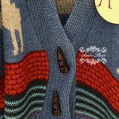 120829-1:Lb145阿米良品秋季新款經典款翻領寬松小鹿圖案毛衣開衫罩衫5.jpg