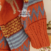 120829-1:Lb145阿米良品秋季新款經典款翻領寬松小鹿圖案毛衣開衫罩衫7.jpg