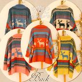 120829-1:Lb145阿米良品秋季新款經典款翻領寬松小鹿圖案毛衣開衫罩衫10.jpg
