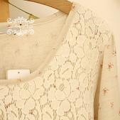 120919:lj010阿米良品秋裝森系可愛拼接簡約大氣長袖圓領高貴連衣裙1.jpg