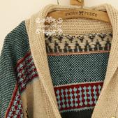 120829-1:Lb145阿米良品秋季新款經典款翻領寬松小鹿圖案毛衣開衫罩衫1.jpg