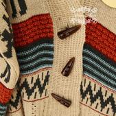 120829-1:Lb145阿米良品秋季新款經典款翻領寬松小鹿圖案毛衣開衫罩衫2.jpg