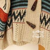 120829-1:Lb145阿米良品秋季新款經典款翻領寬松小鹿圖案毛衣開衫罩衫3.jpg