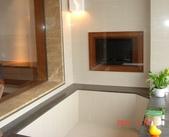99年礁溪長榮鳳凰酒店開幕之旅:DSC05367礁溪長榮鳳凰酒店,泡湯還可以看電視.JPG