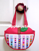 不織布大包包區:愛心條狀蘋果包