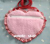 不織布大包包區:粉紅毛毛兔子側背袋背面