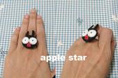 不織布髮夾/髮束/耳環/戒指/項鍊:小p戒指