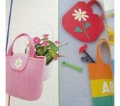 不織布大包包區:花朵英文包包