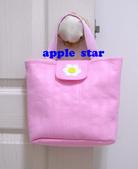 不織布大包包區:粉紅花朵包包