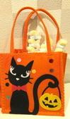 不織布大包包區:黑貓和南瓜提袋