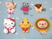 不織布娃娃:愛心豬-小竹輪-聖誕kitty-pasta超人