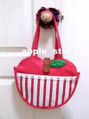 不織布大包包區:點點條狀蘋果包