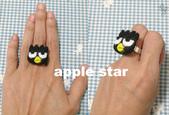 不織布髮夾/髮束/耳環/戒指/項鍊:酷企鵝戒指