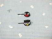 不織布髮夾/髮束/耳環/戒指/項鍊:pugu+酷企鵝一字夾