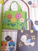 不織布大包包區:花朵+小鳥手提袋