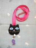 不織布伸縮夾/伸縮扣/包扣:黑貓伸縮夾