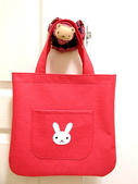 不織布大包包區:阿朗基系列之兔子大包包