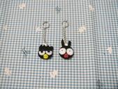 不織布髮夾/髮束/耳環/戒指/項鍊:酷企鵝+小p耳環
