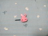 不織布髮夾/髮束/耳環/戒指/項鍊:love兔髮夾