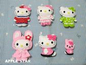 不織布娃娃:小丑-女傭-睡衣-粉紅兔子帽-蕾絲衣kitty