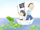 矢量-快樂童年、父親節:父亲节主题韩国插画壁纸z