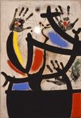 詩詞、畫:《女人與鳥IV 1969》.