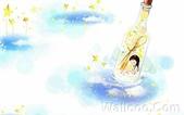 韓國 插畫(女孩:j韩国插画名家:Webjong 甜美女孩插画(三):花仙子 - Webjong可爱小女孩插画