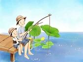 矢量-快樂童年、父親節:父亲节主题韩国插画壁纸,