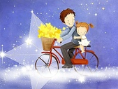 矢量-快樂童年、父親節:父亲节主题韩国插画壁纸s