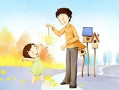 矢量-快樂童年、父親節:父亲节主题韩国插画壁纸t
