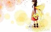 韓國 插畫(女孩:韩国插画名家:Webjong 甜美女孩插画(三):花仙子 - Webjong可爱小女孩插画xc