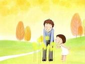 矢量-快樂童年、父親節:父亲节主题韩国插画壁纸a