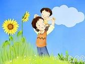 矢量-快樂童年、父親節:父亲节主题韩国插画壁纸x