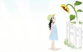 插畫~女孩: