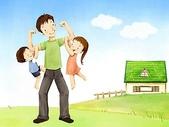 矢量-快樂童年、父親節:父亲节主题韩国插画壁纸c