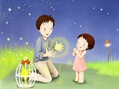 矢量-快樂童年、父親節:父亲节主题韩国插画壁纸y