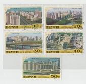 謎樣國度:北韓(朝鮮DPRK):北韓平壤城市風光郵票.jpg