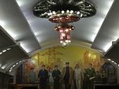 謎樣國度:北韓(朝鮮DPRK):平壤地鐵復興站壁畫.JPG