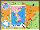 謎樣國度:北韓(朝鮮DPRK):北韓朝鮮半島地圖小全張.jpg