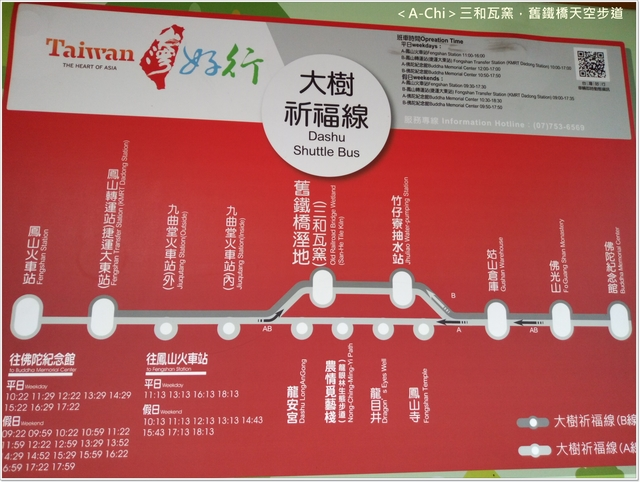 台灣好行路線 - 【高雄。大樹】高屏橋舊鐵橋,天空步道