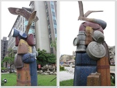 【基隆。七堵】七堵鐵道公園,百年木造驛站:裝置藝術