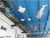【台中。龍井】異國風情的麗水驛站(麗水漁港):屋項彩繪