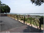 【台中。龍井】異國風情的麗水驛站(麗水漁港):單車欄杆