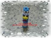 手作3.4mm糖果珠~筆套系列作品:3mm糖果珠(唐老鴨)筆套作品.JPG